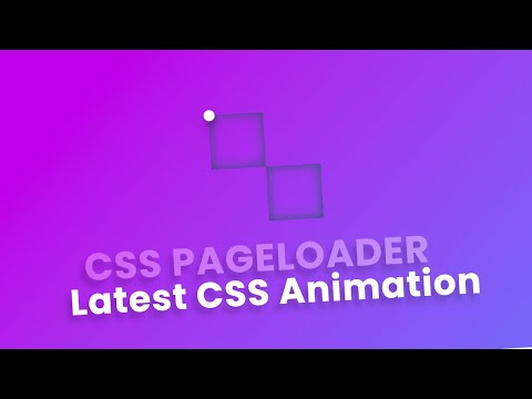 Pure CSS Page Loader – Pure HTML CSS Animation Effect [Video]