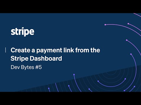 Create a payment link from the Stripe Dashboard [Video]