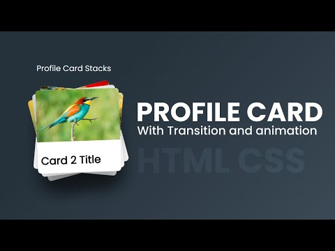 Latest Profile Card Stacks using HTML CSS JS – Latest Profile Card in Website [Video]