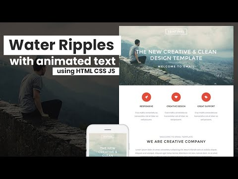 How to add water ripples and animating text using HTML CSS JS Only – Very easy tutorial [Video]