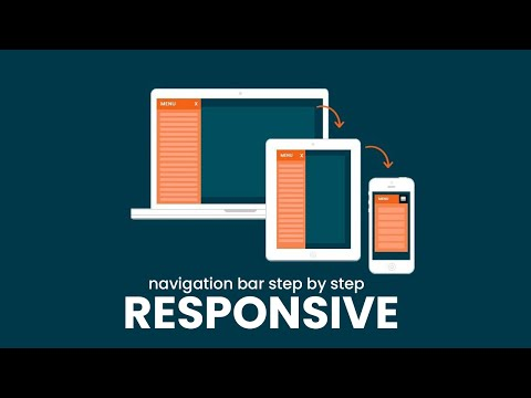 Complete Step By Step Responsive Navigation Bar Creation in HTML Website Template [Video]